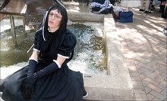 034 (eliza_brown) Tags: fountain japan outside picnic goth rosemont lolita convention acen animecentral japanesefashion lolitafashion brolita animecentral2009 acen2009
