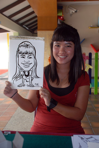 Caricature live sketching for Costa Sands Resort Pasir Ris Day 1 - 4