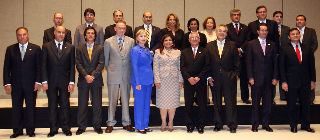 Secretary Clinton With Pathways to Prosperity in the Americas Participants
