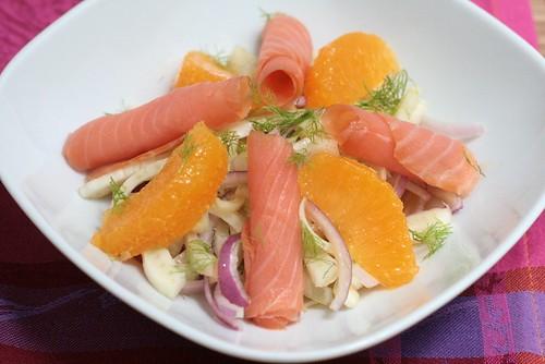 Salade de fenouil & saumon fumé