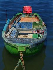 Green One (wolfmanmoike) Tags: sea green boat fishing box quay chain wicklow photoart oars arklow