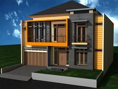 Tampak Depan Rumah Minimalis 2 Lantai by Indograha Arsitama Desain & Build
