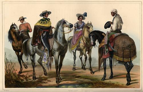 003-El hacendado y su mayordomo -Voyage pittoresque et archéologique dans la partie la plus intéressante du Mexique1836-Carl Nebel