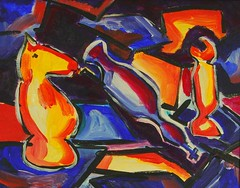 Chess (Steve A Johnson) Tags: abstract color modern valparaiso movement artist acrylic contemporary indiana stephen canvas painter expressionist visualart stevejohnson expressionistic americanart