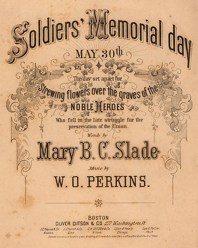 "1870-Historic American Sheet Music, ""Soldier's memorial day"", Music A-2221, Duke University Rare Book, Manuscript, and Special Collections Library"