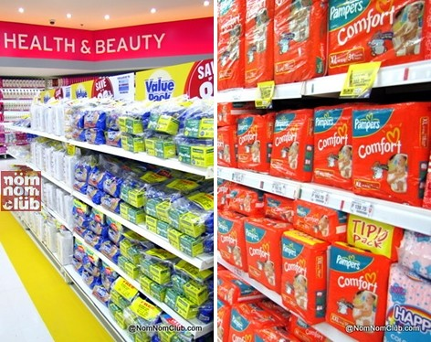 Sm Bonus value packs and Procter & Gamble's Pampers