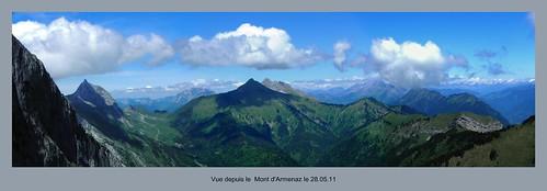 Vue Nord depuis le Mont d'Armenaz