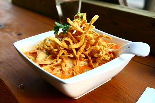 Khao Soi (Egg Noodles in Coconut Curry) at Khao San Road