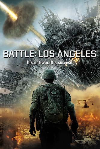 Инопланетное вторжение: Битва за Лос-Анджелес / Battle: Los Angeles (Джонатан Либесман / Jonathan Liebesman) [2011, фантастика, боевик, BDRip 720p]