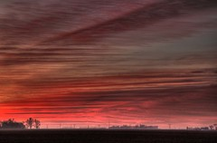 Wonderful Morning (asterb) Tags: morning pink red orange usa clouds landscape northdakota fargo sunruise