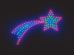 Luzes de Natal - Estrela Cadente (Alessandro Paiva) Tags: christmas xmas natal illustration photoshop lights star render estrela leds shooting luzes portfolio ilustração cadente