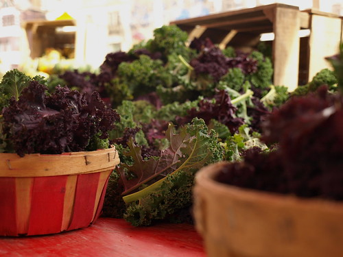 green and purple kale