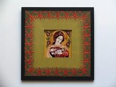 Maica Domnului cu Pruncul (cod MDP12) (Marius Paciu Art) Tags: icons jesuschrist religiousart byzantineicons cultobject religiousrepresentations