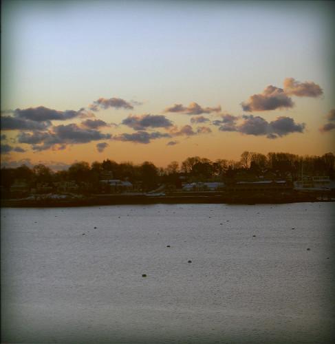 sunrise over marblehead neck