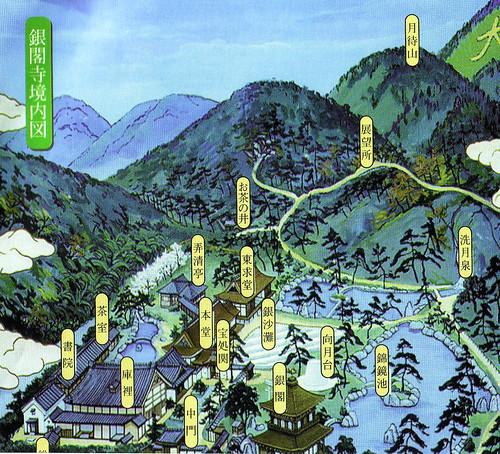 Plan du Ginkakuji