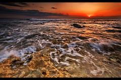 Tidal Sun (JN) Tags: ocean light sunset sea seascape west landscape hawaii golden coast view angle oahu tide wide rocky pools polarizer 1735mmf28d waianae leeward d700 nikon1735mm nikond700 nikon1735mmf28