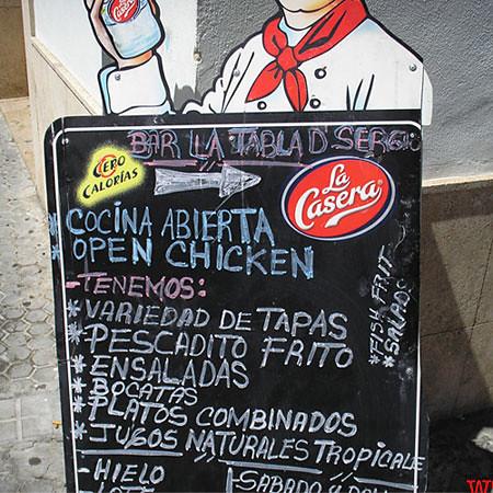 Cocina abierta - Open chicken
