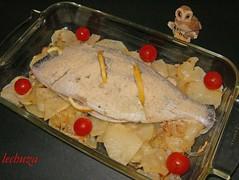 Dorada al horno-con pan rallado
