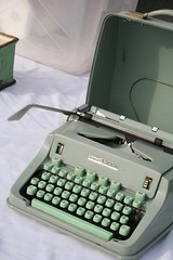 Bryan Won't Let Me Buy This (Maggie Mason (Mighty Girl)) Tags: green typewriter writing themighty