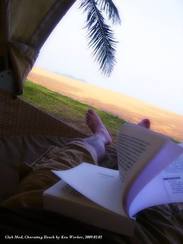 我在Club Med珍拉汀的海灘旁