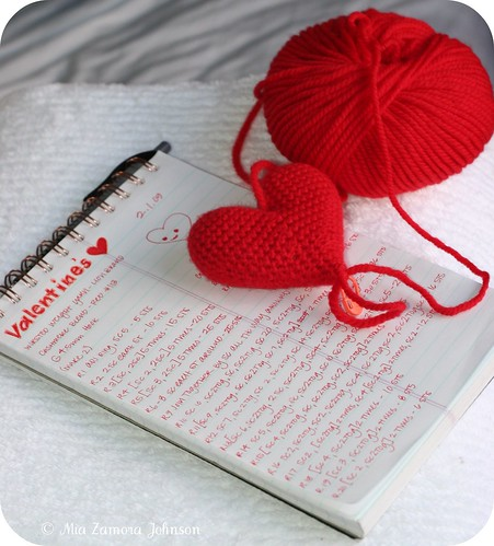 Valentine Hearts Pattern progress