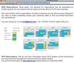 elBulli Reservation Online, MyLastBite.com