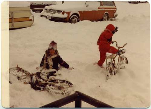 flashback friday: bikes in the snow