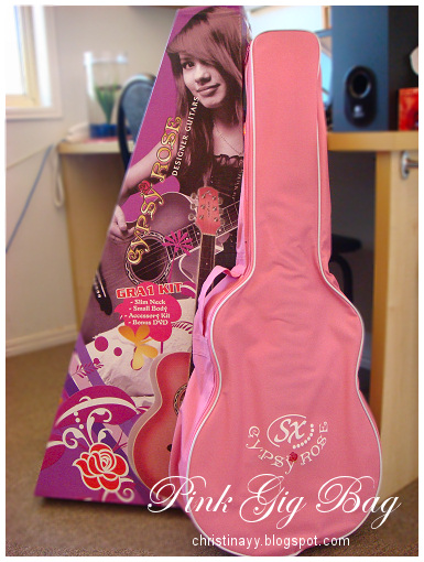 Gypsy Rose: Pink Acoustic Guitar & Pink Gig Bag