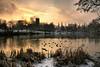 Winter at Lymm Dam (Chris Beesley) Tags: sun lake water sunrise cheshire dam lymm pentaxda1645mm diamondclassphotographer flickrdiamond betterthangood pentaxk100dsuper pentax1645faedal