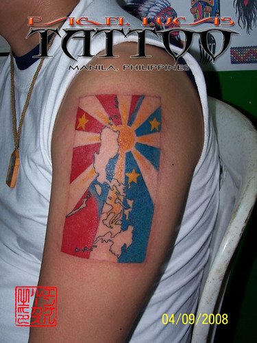 philippine flag tattoo