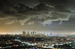 LA downtown (david_CD) Tags: city light skyline night clouds dark losangeles scenery dramatic observatory ver1 ver2 ver3 losangles 89553892