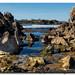 Playa de Cuchía - rocas en marea baja