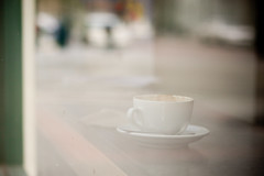 Morning Reflection (Rudy Malmquist) Tags: cup coffee heart michigan grand rapids cap madcap caffeine cappuccino capp