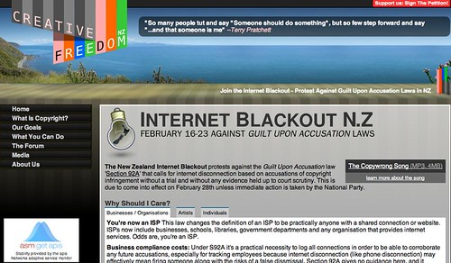 Join the Internet Blackout - Protest Against Guilt Upon Accusation Laws in NZ — Creative Freedom Foundation (creativefreedom.org.nz)