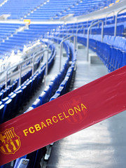 The Camp Nou, FC Barcelona / Spain, Barcelona (flydime) Tags: barcelona city color football spain barca stadium champion catalonia campnou fcbarcelona uefa barcellona ftbol fcb  campen  5photosaday estadi  campi       camponuevo