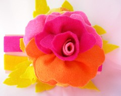 felt multi rose headband front (Beyond.the.Box) Tags: pink blue orange rose yellow buttons blossoms felt peony piston handcrafted handsewn brightcolors etsy headband glassbeads hotpink feltflowers hairaccessory thinkoutsidethebox flowerheadband handembroidery childrensaccessories thinkoutsidethebox2008 feltbouquet neoncoloredfelt girlshairjewelry layeredfeltflower