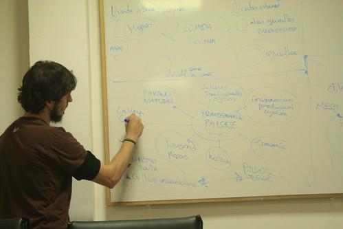 Javier Rodrigo construyendo diagramas de Temas Generadores