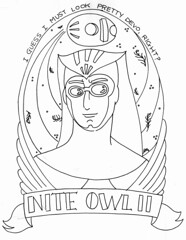 Nite Owl II (Handmade Stuffs) Tags: patterns drawings sketches watchmen niteowl