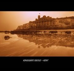 KINGSGATE CASTLE ~ KENT (Wiffsmiff23) Tags: longexposure sea mist beach wet fog kent moss movement rocks tide foggy wellies groyne dull gog caste nd8 kingsgatecastle