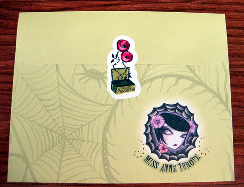 Back of Pandora's Box Envelope