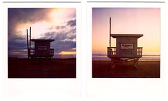 polaroid diptych. 2009. (eyetwist) Tags: ocean venice seascape tower beach analog polaroid sx70 la stand losangeles los diptych pacific angeles lifeguard ishootfilm hut pacificocean 600 instant modified venicebeach analogue 2008 pola polaroid600 baywatch modded nofilter timezero emulsion landcamera instantfilm epson4990 polaroid779 779 iso640 oceanfrontwalk eyetwist sx70landcamera 26thavenue nond ave26 ishootpolaroid sx70lives sx70uses600or779 av26 eyetwistkevinballuff