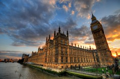 The Leaning Tower of... the Houses of Parliament and Big Ben, London (5ERG10) Tags: uk greatbritain sunset red england sky orange distortion london westminster sergio yellow thames architecture clouds photoshop nikon tramonto unitedkingdom dusk sightseeing housesofparliament parliament bigben wideangle landmark palace clocktower gb handheld frontpage leaning grandangolo londra architettura hdr highdynamicrange attraction houseoflords inghilterra tamigi houseofcommons parlamento d300 10mm 3xp photomatix sigma1020 tonemapping amiti 5erg10 sergioamiti