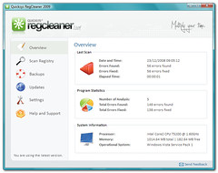 Quicksys RegCleaner - Main Window (quicksys) Tags: windows registry regcleaner regclean bmsoftware quicksys