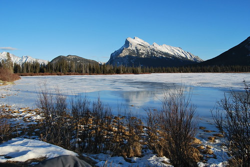 Rundle and vermillion Lakes
