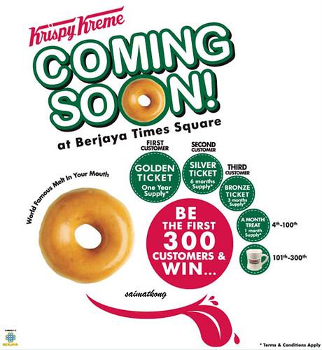 Krispy Kreme Opening @ Berjaya Times Square – 24th April