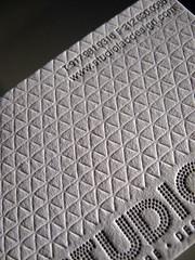 Studio Lab Letterpress Business Cards - Blind Deboss Closeup