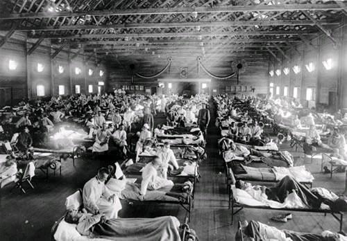 Imagem da Gripe Espanhola no Brasil em 1918