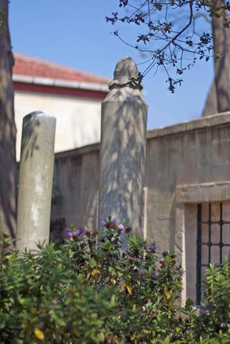 garaves from st. Joshua , Hazreti Yuşa Türbesinin bahçesinden mezarlar, Anadolu Kavağı, İstanbul, Pentax K10d