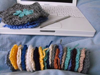 Crochet Hexagons in waiting