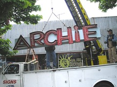 Archie neon sign comes down